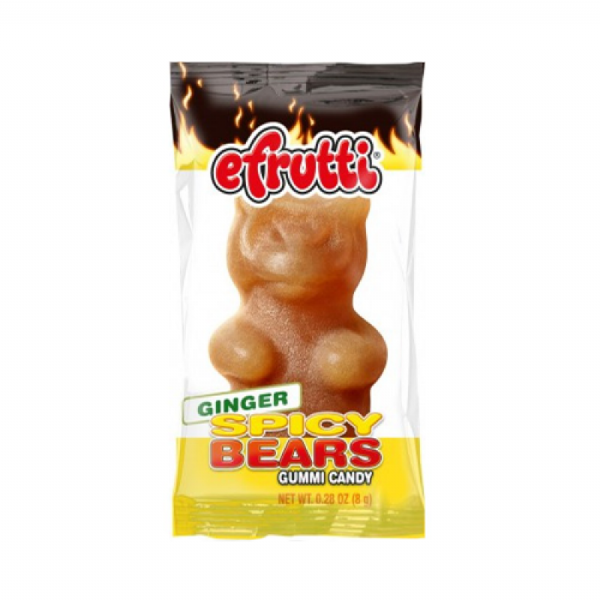 E.Frutti Gummi Candy Spicy Bears Ginger 0.28oz (8g)